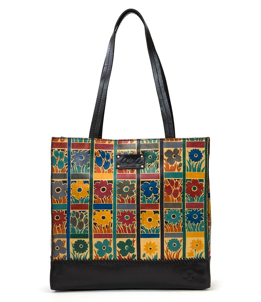 Patricia Nash Floral Squares Collection Toscano Tote