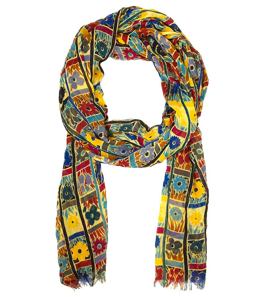 Patricia Nash Floral Squares Collection Scarf