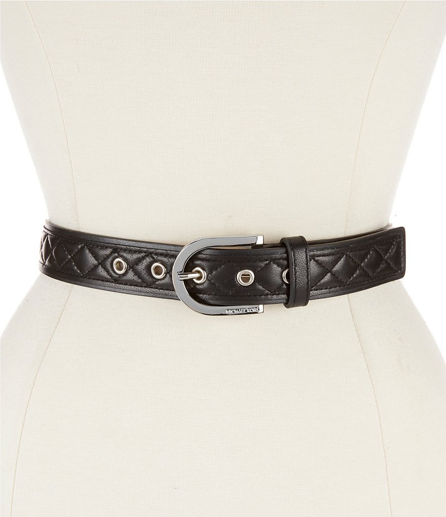 Michael Kors Quilted Leather Belt