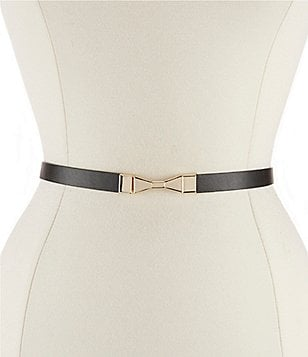 kate spade new york Bow-Buckle Leather Belt