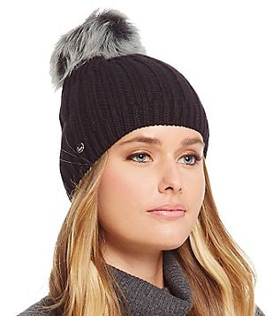 UGG® Ribbed Beanie with Shearling Pom