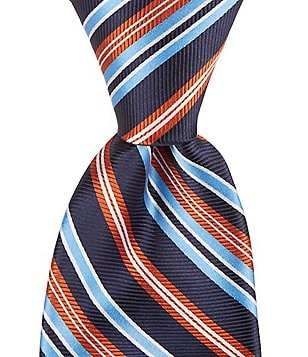 Roundtree & Yorke Trademark Combo Stripe Traditional Silk Tie