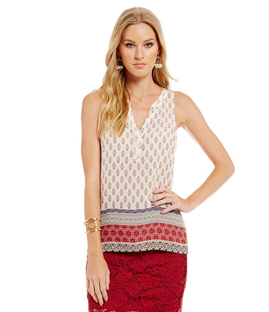 Sanctuary Mori Craft Sleeveless Woven Top