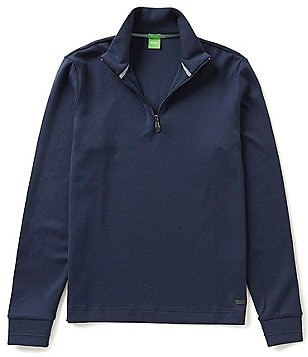 BOSS Green Piceno Piece Mock Neck Quarter-Zip Pullover