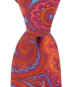 Ted Baker London Multi Colored Paisley Narrow Silk Tie