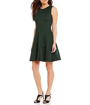 Alex Marie Aidy Scuba Lazer-Cut Sleeveless Dress