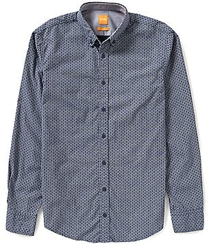 BOSS Orange EdipoE Long-Sleeve Geo Print Woven Shirt