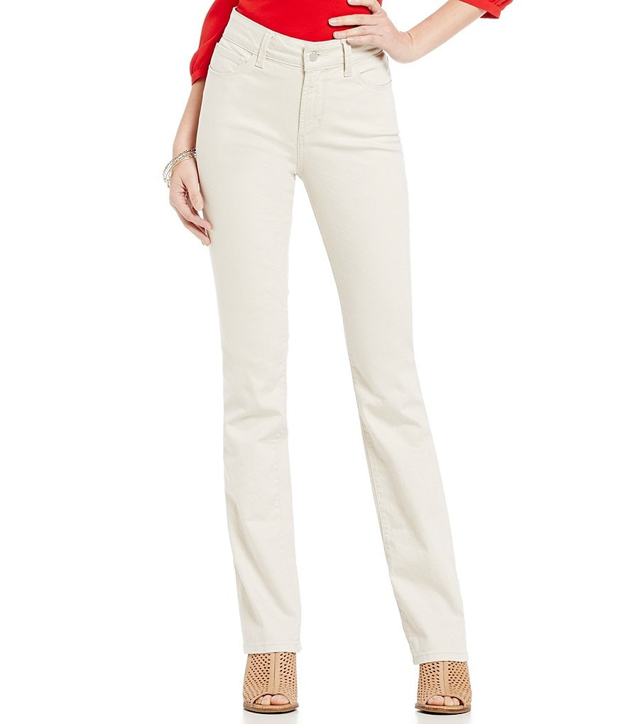 NYDJ Marilyn 5-Pocket Solid Straight Leg Jeans