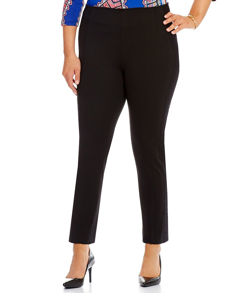 Peter Nygard Slims Plus Luxe Lacey Ankle Pants