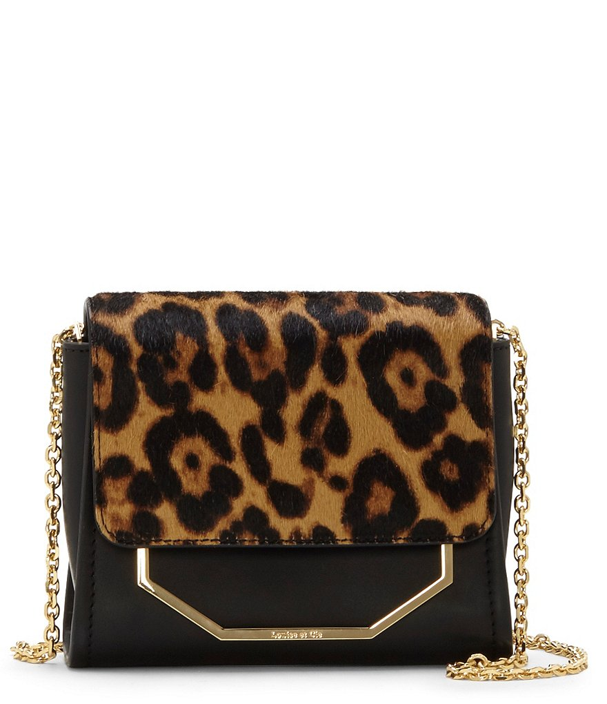 Louise et Cie Towa Leopard-Print Haircalf Micro Bag