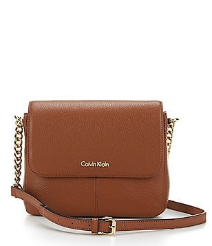 Calvin Klein Pebble Flap Cross-Body Bag