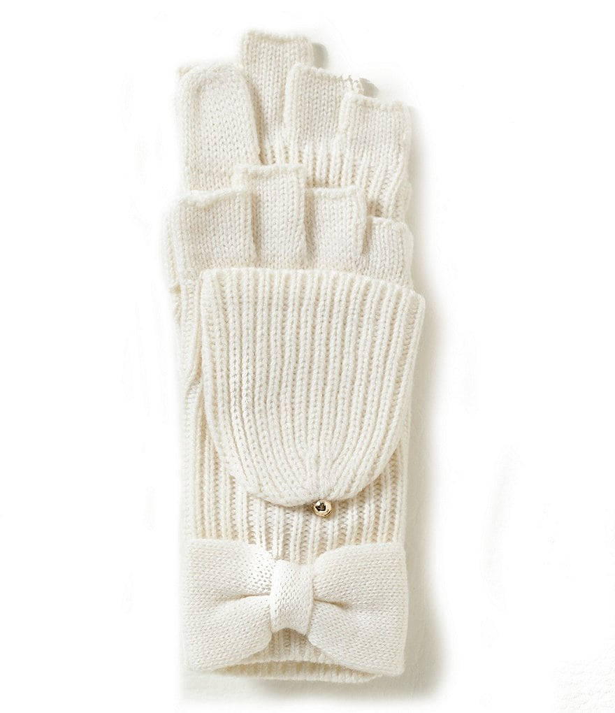 kate spade new york Bow Flip-Top Mittens