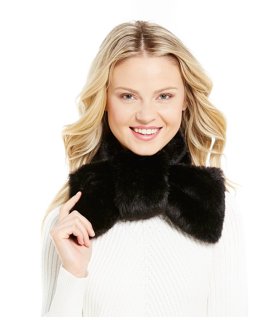 kate spade new york Faux-Mink Bow Scarf