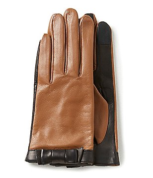 kate spade new york Color Block Bow Leather Gloves
