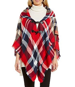 Collection 18 Plaid Poncho