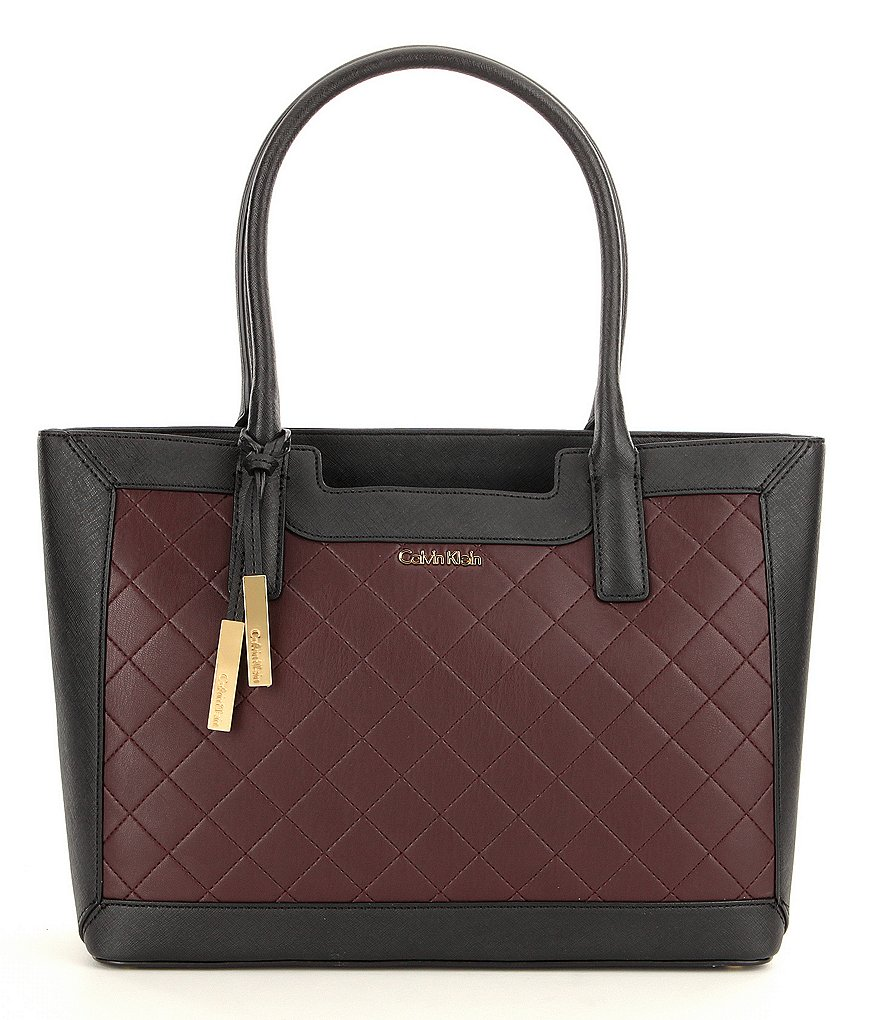 Calvin Klein Saffiano Quilted Tote