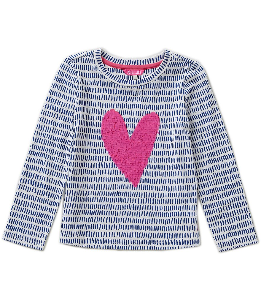 Joules Little Girls 3-6 Dash Print Rava Jersey Appliqué Top