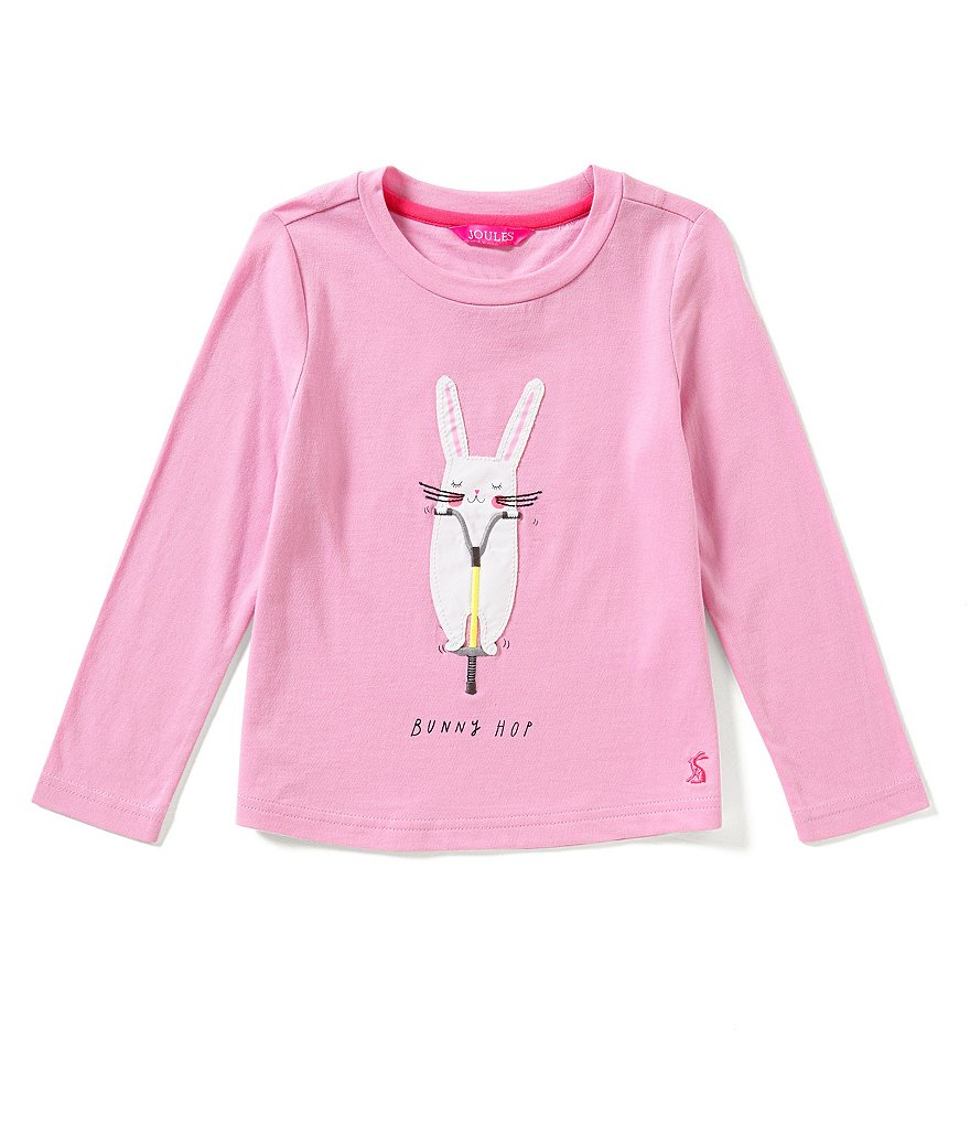 Joules Little Girls 3-6 Rava Bunny Hop Rabbit-Appliquéd Jersey Top