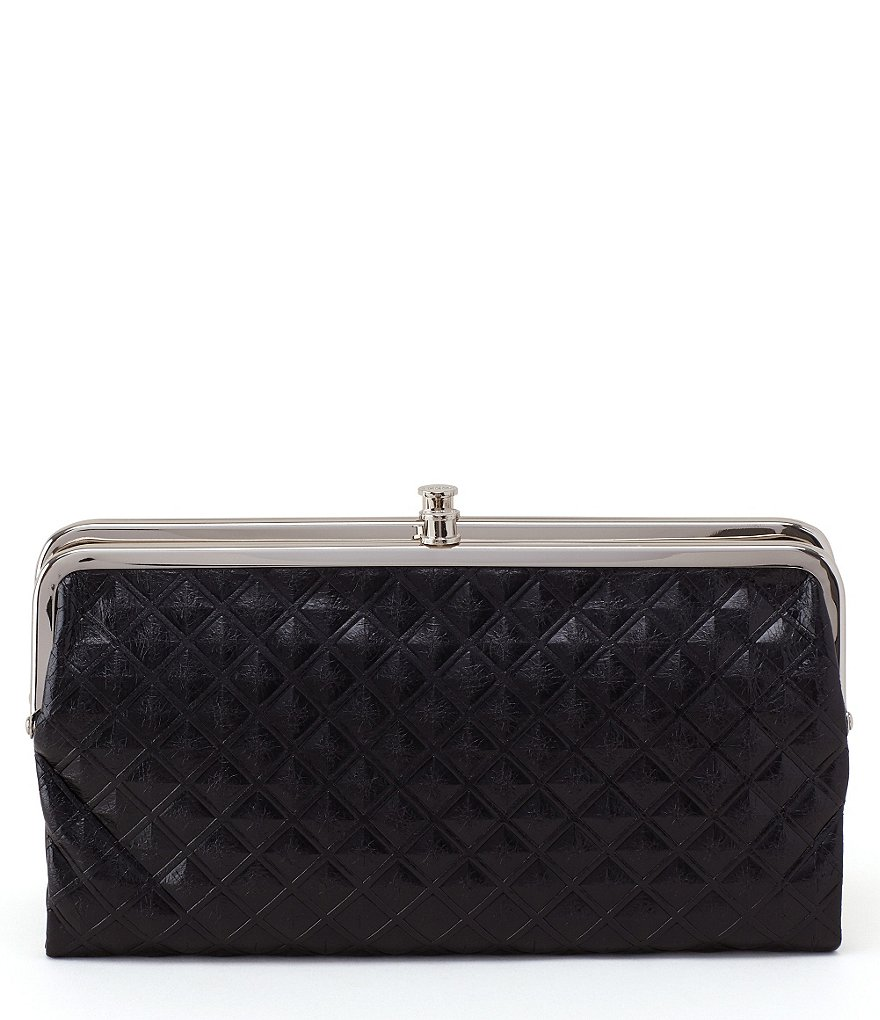 Hobo Original Lauren Diamond-Embossed Double-Frame Clutch Wallet