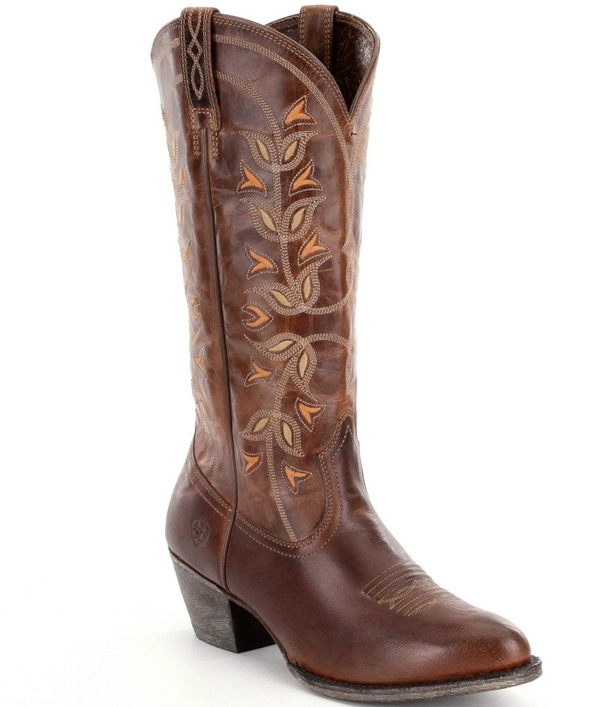 Ariat Desert Holly Embroidered Stitched Leather Boots