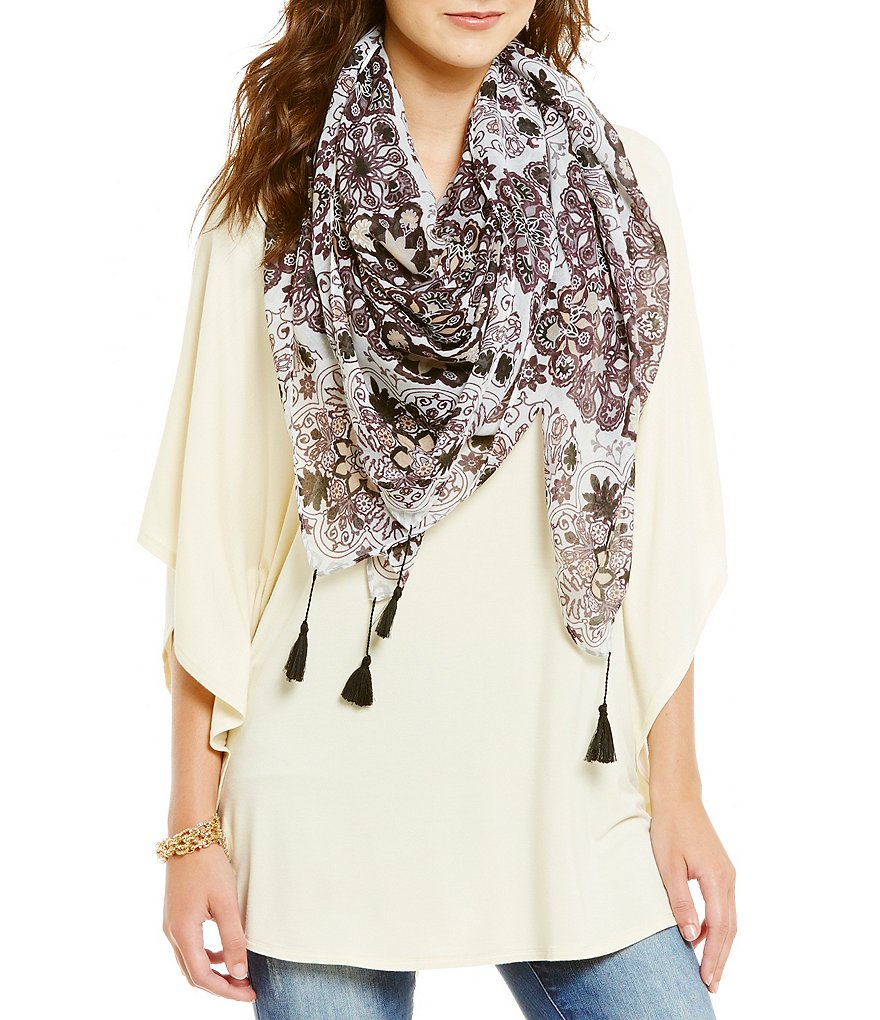 Anna & Ava Floral Square Scarf