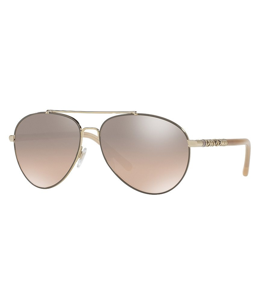 Burberry Modern Mirrored Aviator Sunglasses