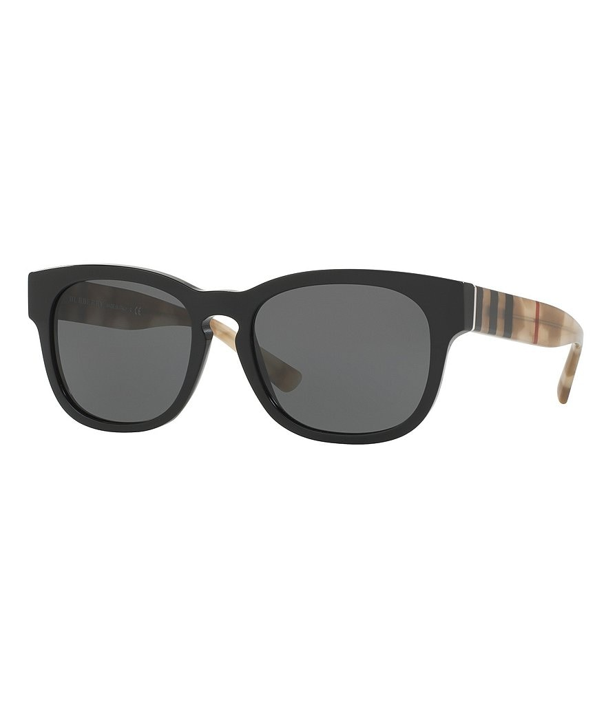 Burberry Acoustic Modern Logo Square Sunglasses