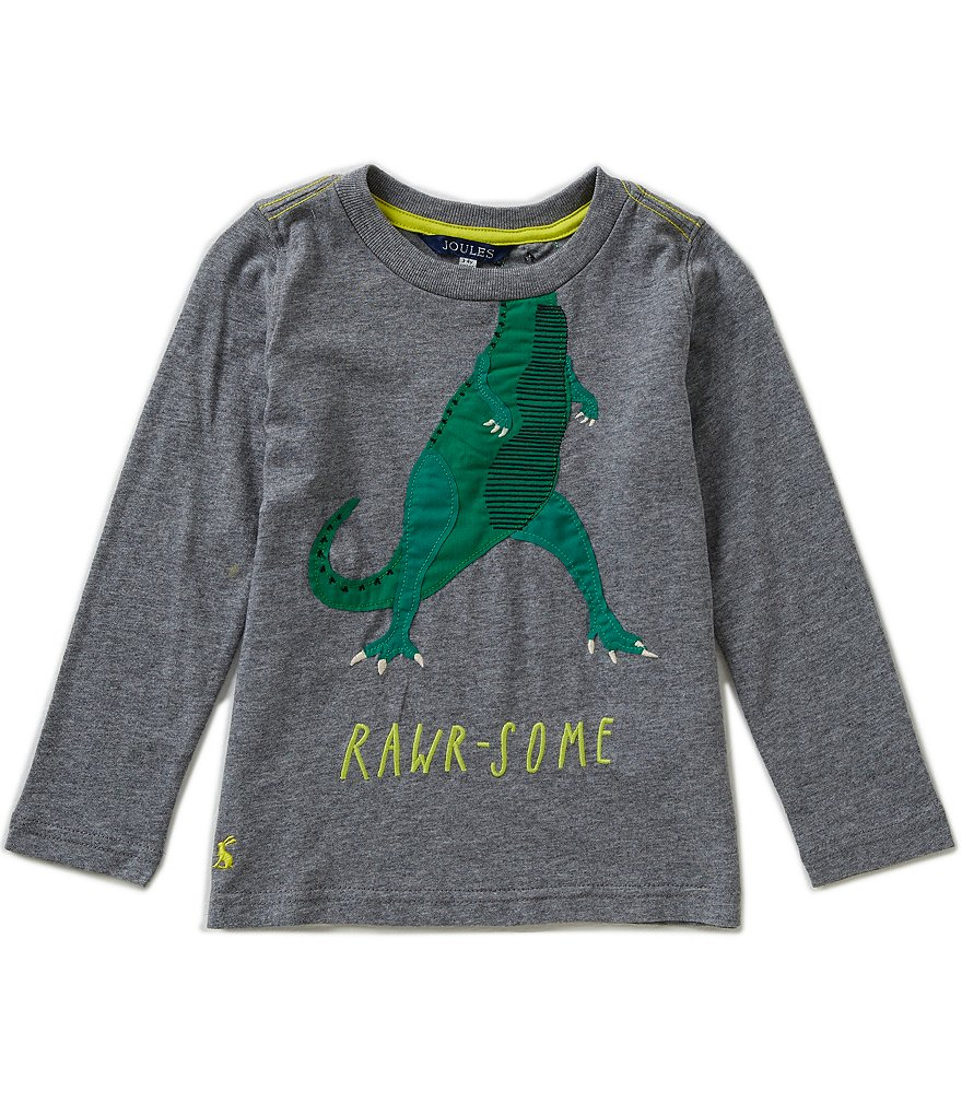 Joules Little Boys 3-6 Jack Jersey Dinosaur Appliqué Top