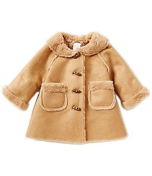 Starting Out Baby Girls 3-24 Months Faux Shearling Coat