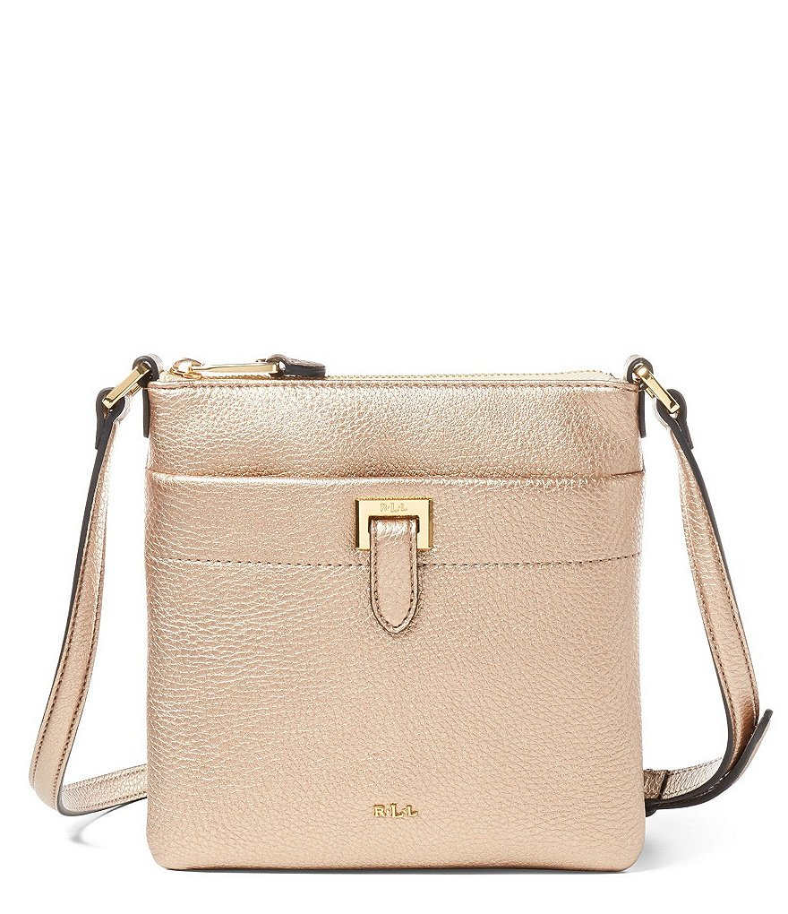 Lauren Ralph Lauren Carlisle Collection Ayla Metallic Cross-Body Bag