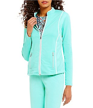 Ruby Rd. Zip-Front Stretch French Terry Jacket
