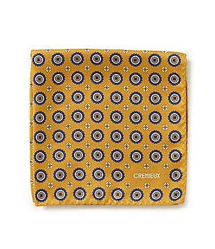 Cremieux Medallion Print Silk Pocket Square