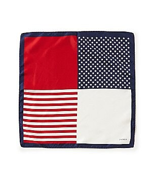 Cremieux American Flag Silk Pocket Square