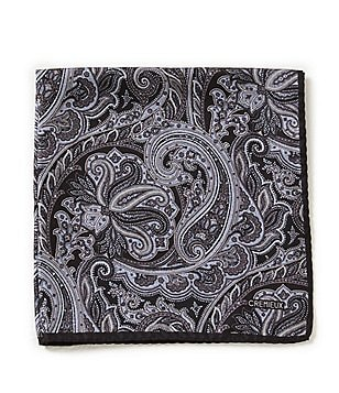 Cremieux Big Paisley Silk Pocket Square