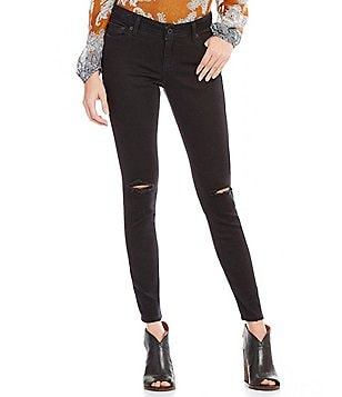 Lucky Brand Lolita Skinny Destruction Detail Knee-Slit Jeans