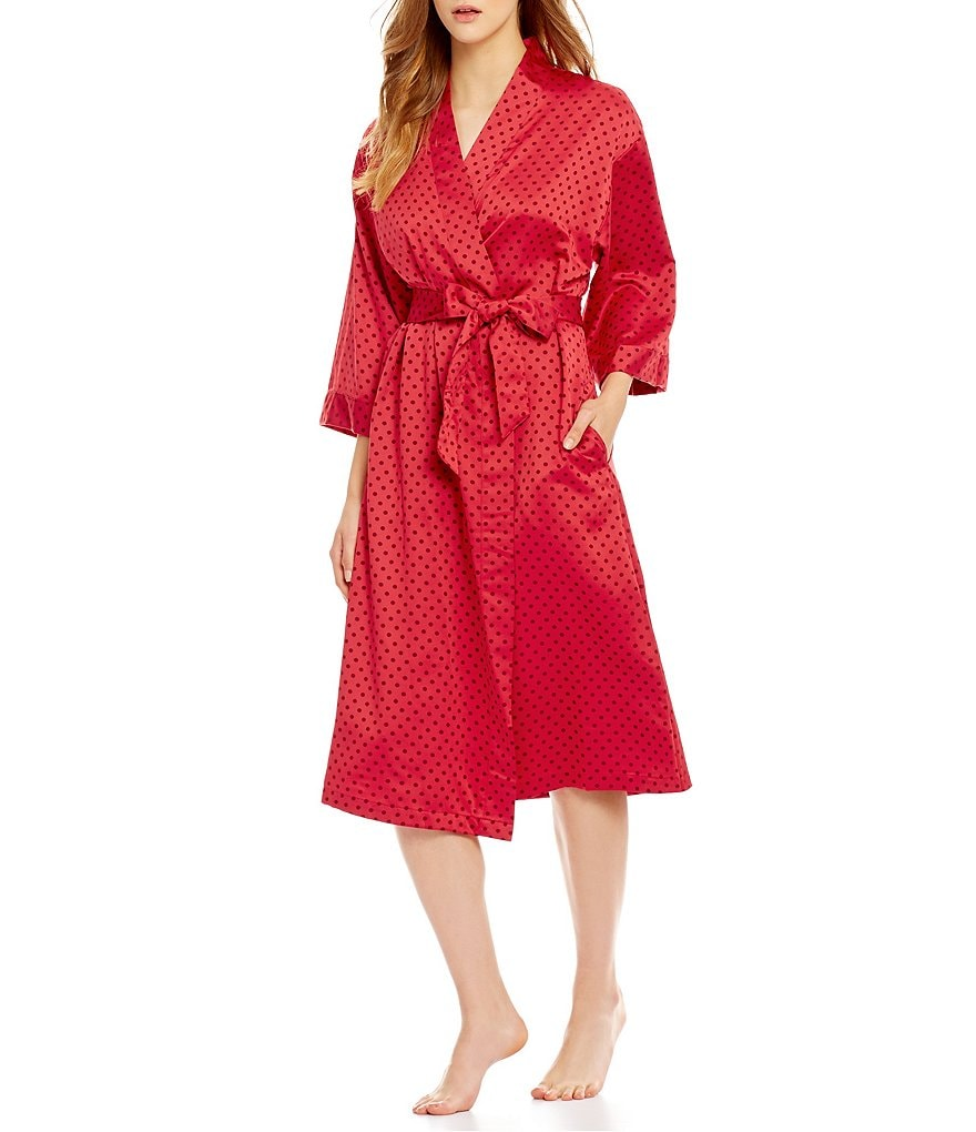 Cabernet Satin Wrap Robe