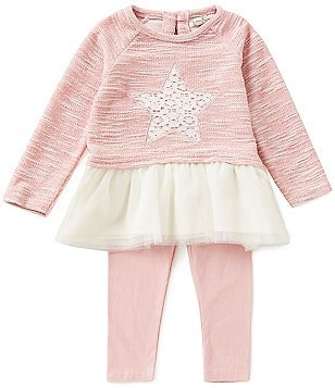 Jessica Simpson Baby Girls 12-24 Months Star-Appliquéd Sparkle-Slub-Knit/Mesh Dress