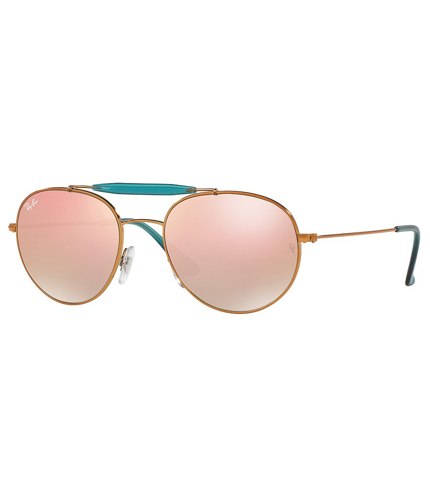 Ray-Ban Flash Brow-Bar Aviator Sunglasses