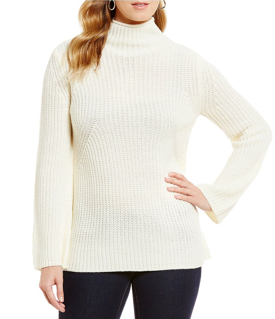 Cremieux Dee Bell-Sleeve Turtleneck Sweater