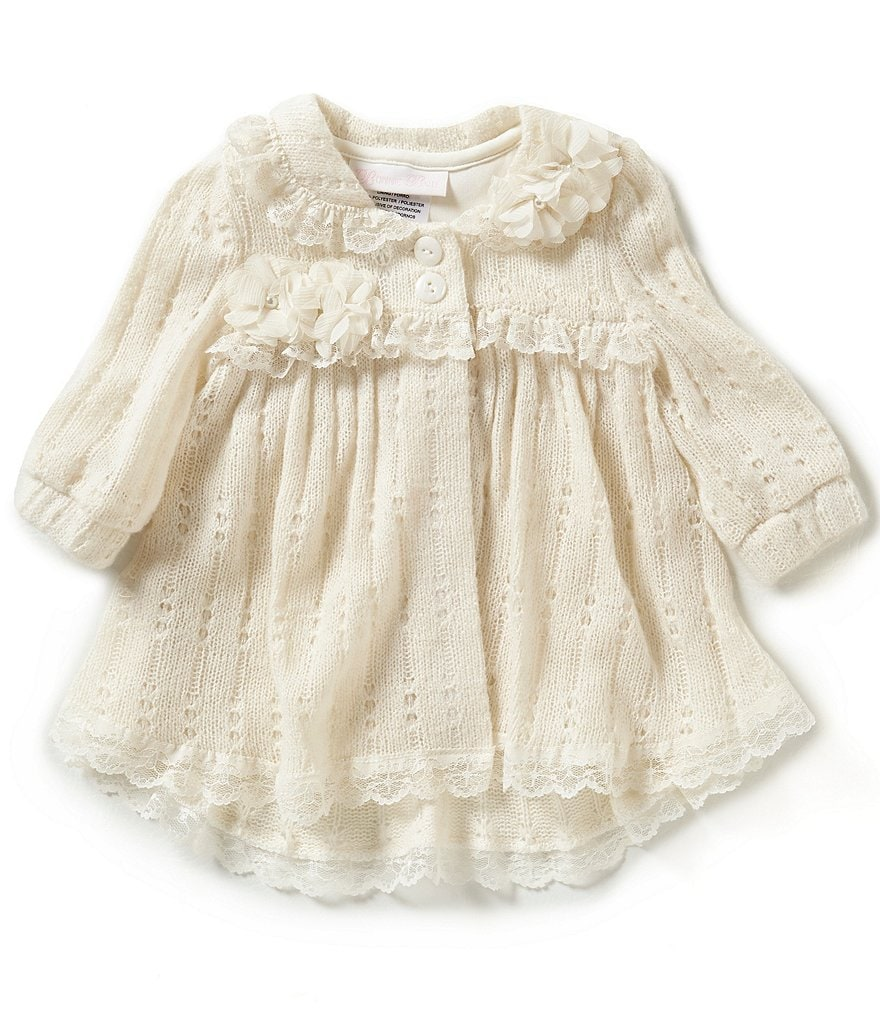 Bonnie Baby Baby Girls Newborn-24 Months Pointelle Sweater Coat