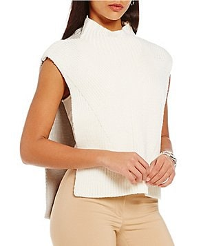 Katherine Kelly Penny Sleeveless Mock Neck Sweater