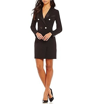 Anne Klein Satin Collar Tuxedo Dress
