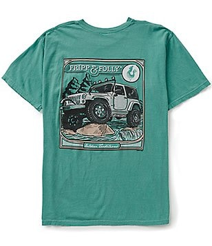 Fripp & Folly Men´s On The Rocks Short-Sleeve Graphic Pocket Tee