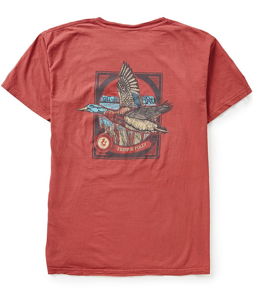 Fripp & Folly Men´s Mallard Short-Sleeve Graphic Pocket Tee