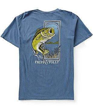 Fripp & Folly Men´s Large Mouth Bass Short-Sleeve Graphic Pocket Tee