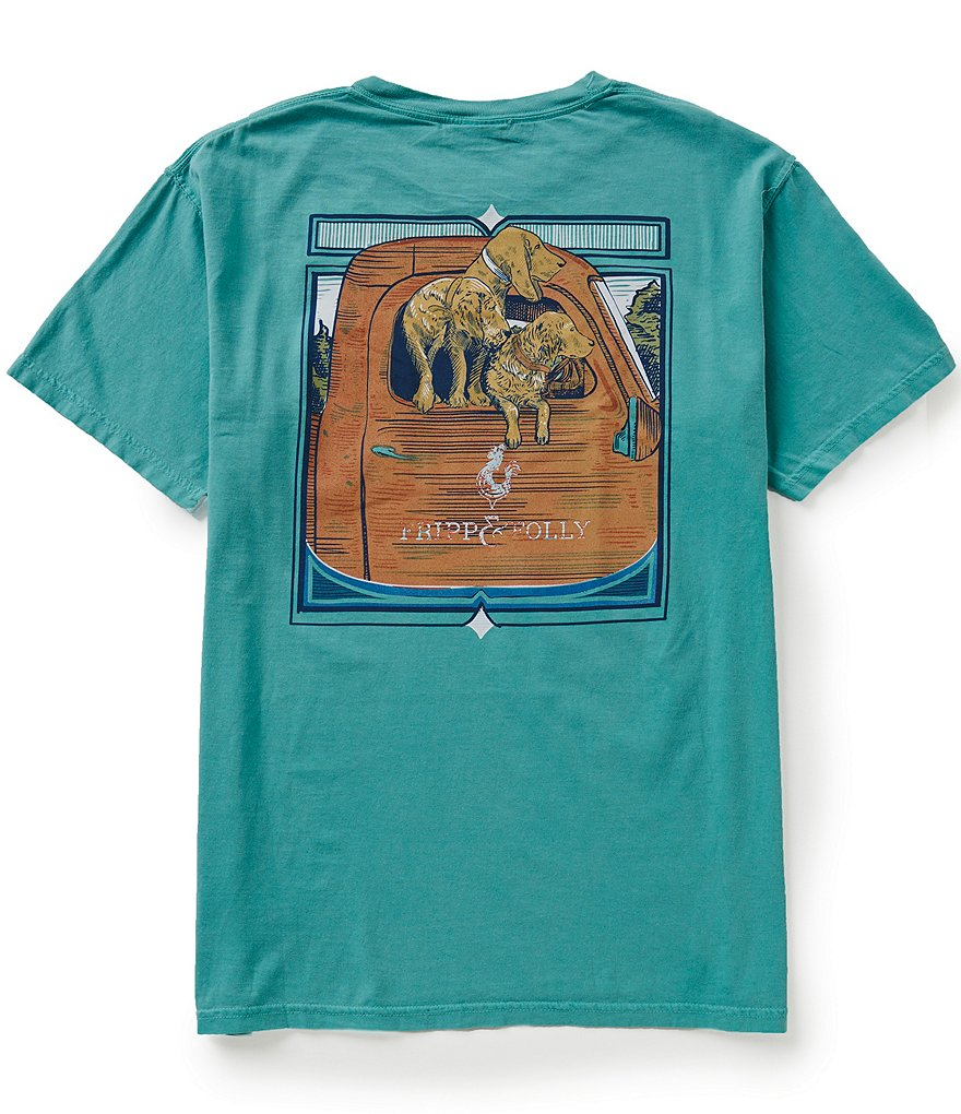 Fripp & Folly Men's Dog Days Short-Sleeve Graphic Tee