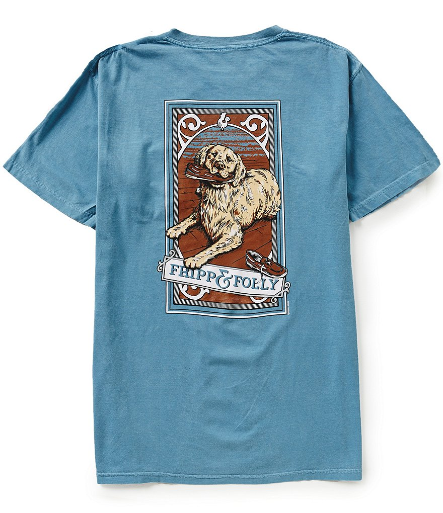 Fripp & Folly Men´s Boatshoe Retriever Short-Sleeve Graphic Pocket Tee