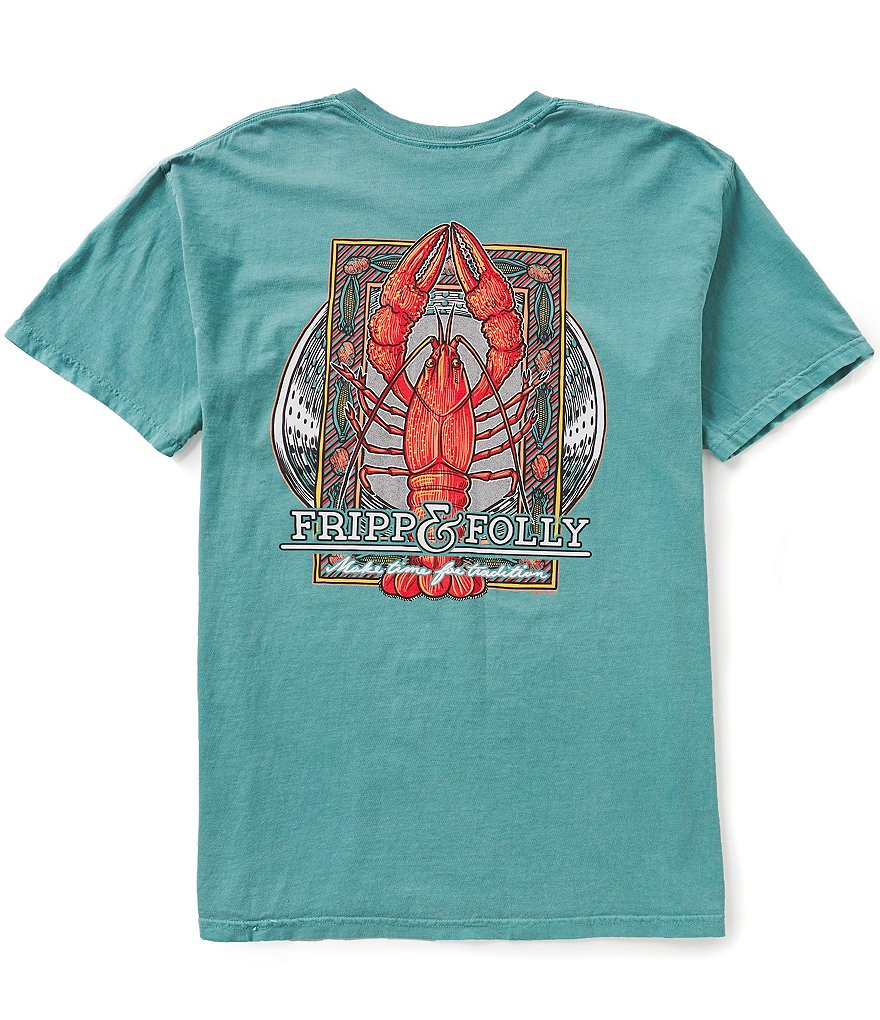 Fripp & Folly Men´s Crawfish Boil Short-Sleeve Graphic Pocket Tee