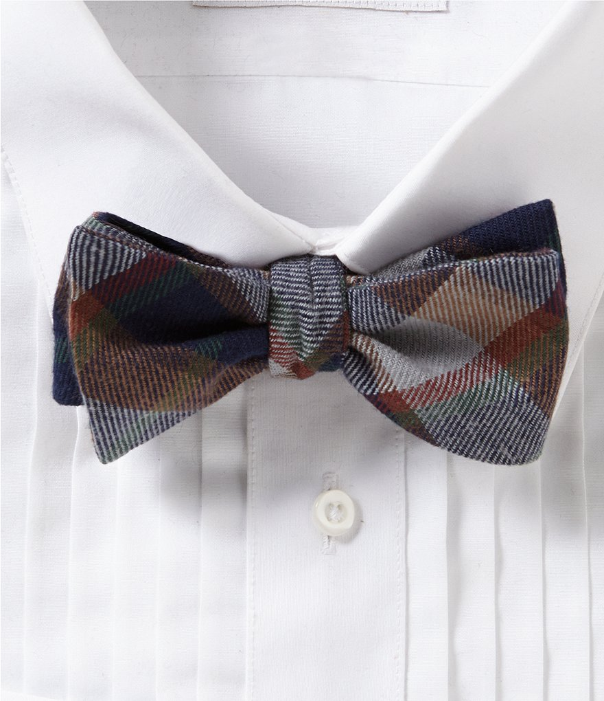 Cremieux Big Plaid Cotton Bow Tie