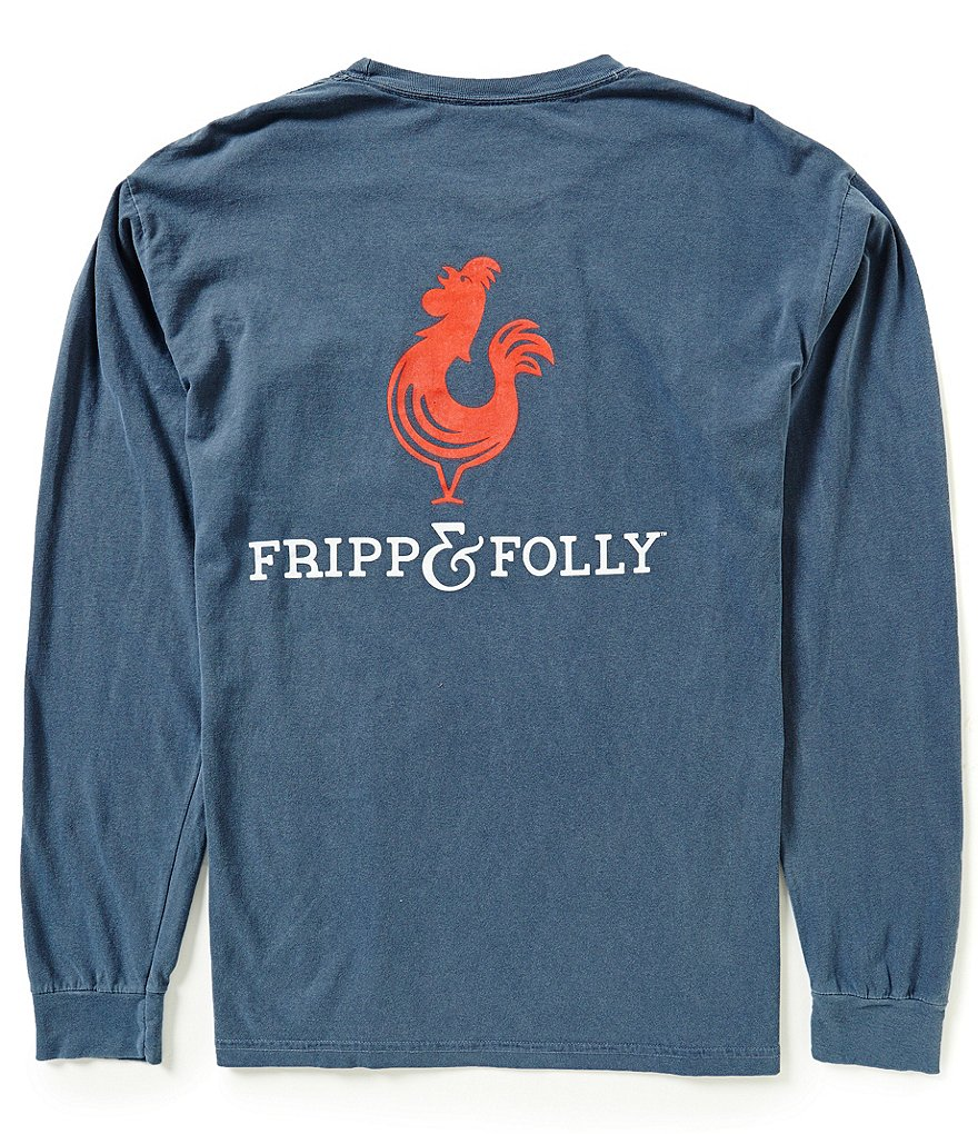 Fripp & Folly Men´s Classic Logo Graphic Long-Sleeve Pocket Tee